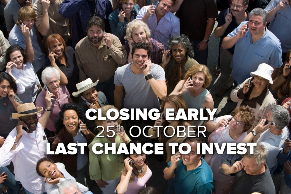 Seedrs campaign: Over-funded and closing early!